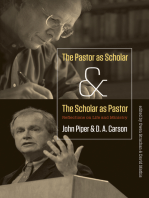 The Pastor as Scholar and the Scholar as Pastor