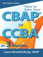 How to Earn a CBAP or CCBA in 3 Months