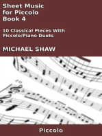 Sheet Music for Piccolo