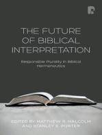 The Future of Biblical Interpretation