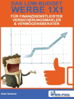 Low Budget Werbe 1x1 für Finanzdienstleister, Versicherungsmakler und Vermögensberater