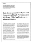 Study on Data Envelopment Analysis and Commercial Bank Performance