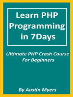Learn PHP Programming in 7Days: Ultimate PHP Crash Course For Beginners