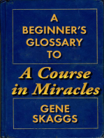 A Beginner's Glossary to A Course in Miracles