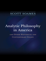 Analytic Philosophy in America: And Other Historical and Contemporary Essays