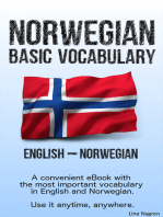 Basic Vocabulary English - Norwegian