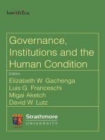 Governance, Institutions and the Human Condition