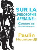 Sur la philosophie africaine
