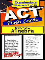 ACT Test Prep Algebra Review--Exambusters Flash Cards--Workbook 7 of 13