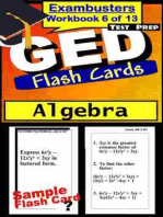 GED Test Prep Algebra Review--Exambusters Flash Cards--Workbook 6 of 13