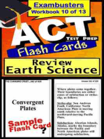 ACT Test Prep Earth Science Review--Exambusters Flash Cards--Workbook 10 of 13