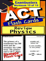 ACT Test Prep Physics Review--Exambusters Flash Cards--Workbook 13 of 13