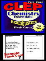 CLEP Chemistry Test Prep Review--Exambusters Flash Cards