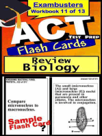 ACT Test Prep Biology Review--Exambusters Flash Cards--Workbook 11 of 13