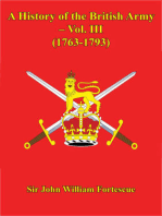 A History Of The British Army – Vol. III (1763-1793)