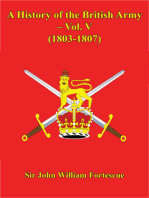 A History Of The British Army – Vol. V – (1803-1807)