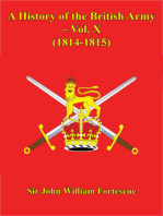 A History Of The British Army – Vol. X – (1814-1815)