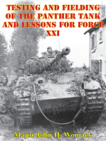 Testing And Fielding Of The Panther Tank And Lessons For Force XXI