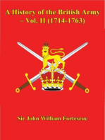 A History of the British Army – Vol. II (1714-1763)