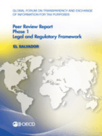 Global Forum on Transparency and Exchange of Information for Tax Purposes Peer Reviews: El Salvador 2015:  Phase 1: Legal and Regulatory Framework