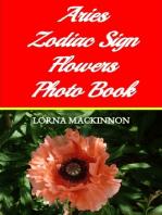 Aries Zodiac Sign Flowers Photo Book