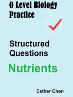 O Level Biology Practice Structured Questions Nutrients