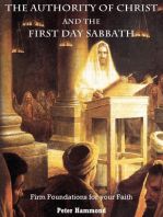 The Authority of Christ and the First Day Sabbath