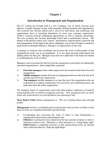 Study Project on Management and Organizations