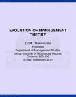Management Studies on Evolution of Management Theory