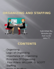 OB- Organizing and staffing