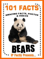 101 Facts... BEARS! Bear Books for Kids - Amazing Facts, Photos & Video Links. (101 Animal Facts, #3)