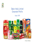 Dabur India Limited Corporate Profile