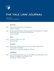 Yale Law Journal: Volume 124, Number 6 - April 2015