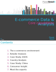 E-commerce Data & Analysis