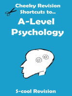 A level Psychology Revision (Cheeky Revision Shortcuts)