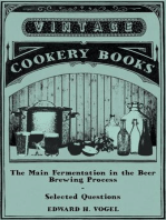 The Main Fermentation in the Beer Brewing Process - Selected Questions