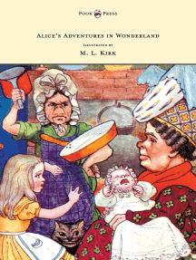 Alice's Adventures in Wonderland - With Twelve Full-Page Illustrations in Color by M. L. Kirk and Forty-Two Illustrations by John Tenniel