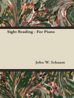 Sight Reading - For Piano