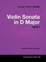 George Frideric Handel - Violin Sonata in D Major - HW371 - A Score for Violin and Piano
