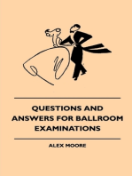 Questions And Answers For Ballroom Examinations