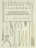 Lessons in Taxidermy - A Comprehensive Treatise on Collecting and Preserving All Subjects of Natural History - Book I.