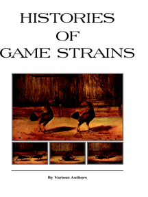 Histories of Game Strains (History of Cockfighting Series) - Read Online