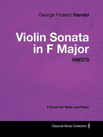 George Frideric Handel - Violin Sonata in F Major - HW370 - A Score for Violin and Piano
