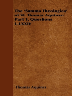 The 'Summa Theologica' of St. Thomas Aquinas