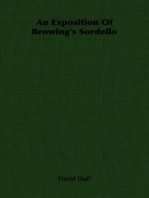 An Exposition Of Browing's Sordello