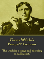 """Essays & Lectures: """"The world is a stage and the play is badly cast."""""""
