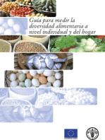 Guía para medir la diversidad alimentaria a nivel individual y del hogar