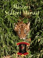 Masters Student Manual