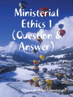 Ministerial Ethics 1 (Question & Answer)
