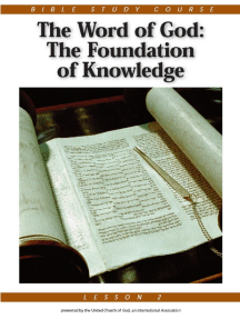 Bible Study Course - Lesson 2: The Word of God: The Foundation of Knowledge